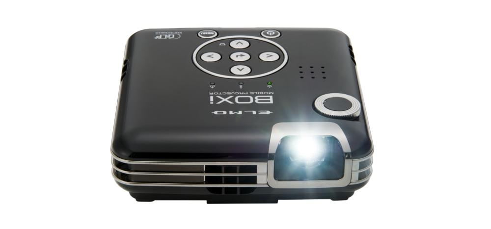 Review elmo boxi t 350 portable projector digital hippos for Handheld projector reviews