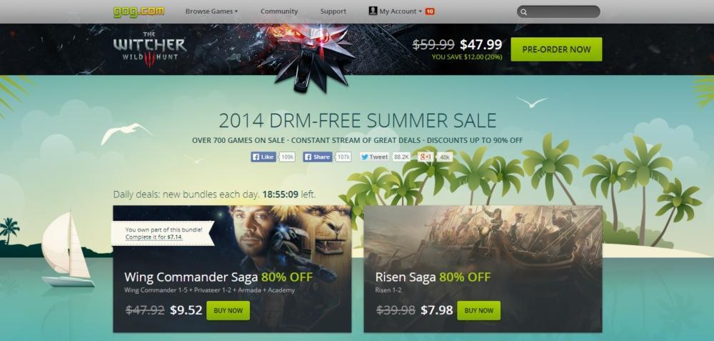 GOG Summer Sale 2014